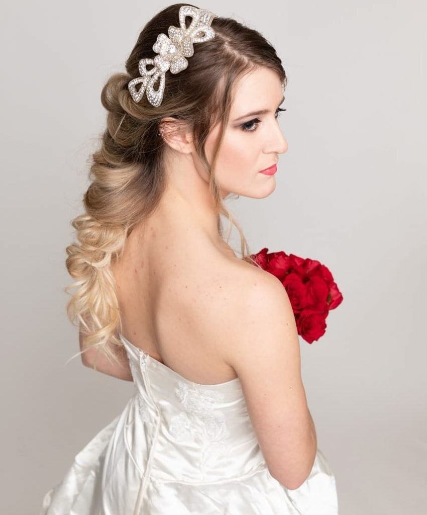 Blow out Hair design, and Makeup wedding Bridal trial