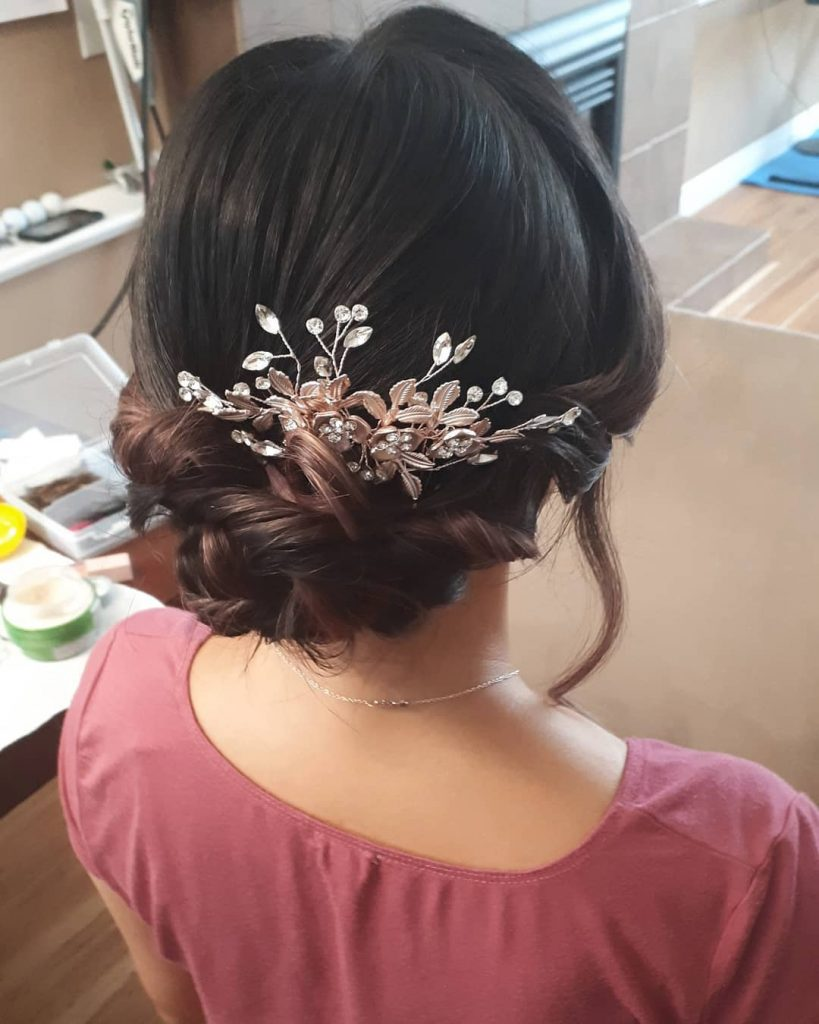 Blow out Hair design, and Makeup